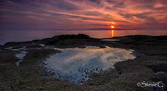 Sunset (StevieC - Photography) Tags: sunset sea seascape landscape scotland rocks paradise tranquil rockpool steviec