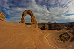 Delicate Arch (Spazoto) Tags: park nature beautiful rock stone landscape outdoors utah sandstone arch outdoor background scenic arches fisheye national moab spencer delicate bawden spazoto