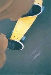 penny. (wikemaz) Tags: motion blur 35mm canon fuji skateboarding superia films 400 penny xtra fujicolor fujicolorsuperiaxtra400 michiganskateboarding