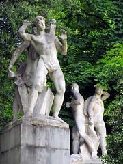 Statues, Jos Tartiere monument, Campo de San Francisco, Oviedo, Spain (Paul McClure DC) Tags: sculpture espaa spain asturias historic oviedo june2014