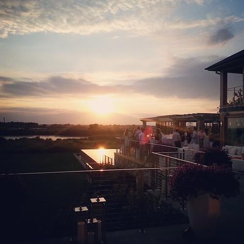 Glorious sunset! #Hamptons #InfinityPool #HamptonsParty