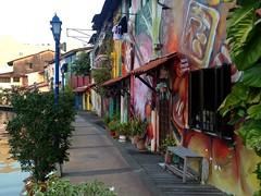 Les bords du fleuve de Melaka