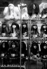 Wig shop (Jordi V.) Tags: leica blackandwhite film japan yokohama  summitar kentmere iiif
