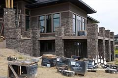 DSC_0030 (Kodiak Mountain Stone) Tags: house mountain canada calgary home project southern alberta pillars kodiak hackett