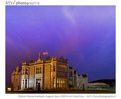 Wiston House beneath August stars (Art's Eye photographic) Tags: old sky building architecture night clouds stars hotel nightsky mansion cirrus summernight historicbuilding