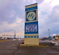 Lima Mall sign (Nicholas Eckhart) Tags: ohio usa sign retail america us lima oh stores simonmalls 2014 limamall edwardjdebartolo