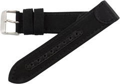 20mm Black Genuine Oil Tan Leather & Canvas Hadley Roma Watch Band Strap MS868 Discounts (sarahalava) Tags: black roma leather watch band canvas strap hadley 20mm genuine discounts ms868