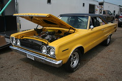 1967 Plymouth Belvedere II (osubuckialum) Tags: show columbus ohio classic cars car yellow muscle plymouth 1967 oh belvedere mopar nationals 67 carshow musclecar 2014 dragcar moparnationals moparmuscle belvedereii nationaltrailraceway moparpower