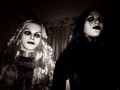 guests of the house... (bronxbob) Tags: halloween horror ghosts macabre witches vampires ghouls