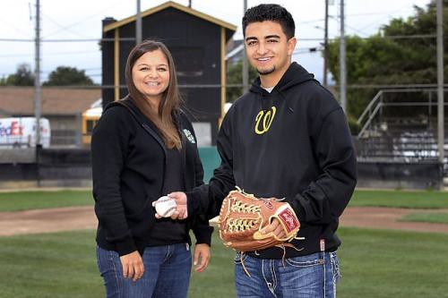 Jill Rivera played softball for Santa Clara University in the 1990s and now her son, Chris, who pitches for Watsonville High, has made a verbal commitment to Long Beach State.