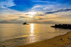 Sunset Beach (Joe Barrett Photography) Tags: ocean sunset summer seascape beach catchycolors newjersey nikon vibrant nj vivid sunsetbeach capemay atlantus jerseyshore nikondigital southjersey catchycolorsblue capemaycounty sigma1770mmf284dcmacrohsm