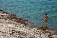 The rocks You see (Łukasz Kurpias) Tags: blue people woman sun ass beach water rock canon eos back croatia bikini behind niebieski woda słońce plaża kobieta skała człowiek eos5dmarkii 241054f