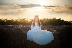 Sunset (sweetpeatoad~) Tags: sunset sky girl crown hay allentexas cathyhawkins cathyhawkinsphotography cathyhawkinsstudio