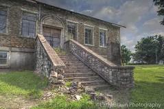 Learning Disability (LarryHB) Tags: school summer brown horizontal rural community decay missouri hdr roadart 2014