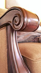 The Arm of the Living Room Sofa (Kenneth Wesley Earley) Tags: carved spokane bernhardt sofa sculpted macromadness spokanewa woodenarm 99205 bernhardtfurniture
