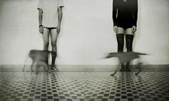 *** (Victoria Yarlikova) Tags: longexposure people bw abstract experimental surreal dypitch littledoglaughednoiretblancet