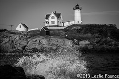 Cape Neddick at high tide (lezlievachon) Tags: