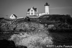 Cape Neddick at high tide (lezlievachon) Tags: