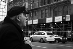XE1-02-19-14-13 (a.cadore) Tags: nyc newyorkcity blackandwhite bw zeiss busstop midtown fujifilm 57thstreet carlzeiss xe1 zeissbiogon35mmf2 biogont235 fujifilmxe1