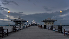 Closing Time (Glenn D Reay) Tags: blue wales clouds lights pier huts hour llandudno pavillion sigma1770hsm pentaxart pentaxk30 glennreay