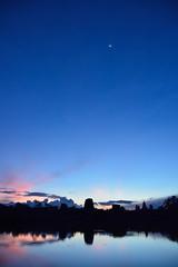 Dawn of Angkor Wat (kimtosh11) Tags: blue sky moon nikon cambodia angkorwat carving dig  remains worldheritage antiquity       bluetime  d7100
