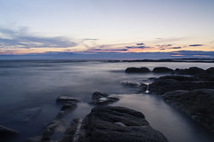 Sleeping Sea at the Sunset (Cxpo) Tags: sunset sea water canon eos lights long exposure harmony pure filtre laturballe cokin 650d ndx