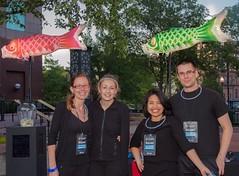 WaterFire Providence Guest Station Volunteers 8.23.14 (Photo by Jen Bonin)