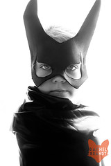 July 26 : Serious Superhero (RachelBrandtPhotography) Tags: blackandwhite girl cosplay batgirl comiccon sdcc sandiegocomiccon