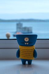 Uglyworld #2409 - Kisimuls Castler - (Project On The Go - Image 239-365) (www.bazpics.com) Tags: new blue castle wool window project toy island happy hotel scotland blog sweater honeymoon day view action handmade room crochet steps vinyl knit august daily website figure western jumper 365 outer adventures custom uglydoll total barra isle isles 27th wedgie hebrides uglydolls 2014 castlebay kisimul wedgehead uglyworld prettyugly barryoneilphotography adventuresinuglyworld uglyadventures