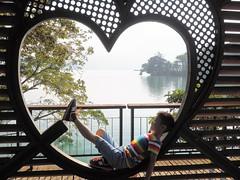 2014-08-30 07.57.34 (pang yu liu) Tags: 2014 08 aug    travel nantou day2 sun moon lake   kai yi   cycling