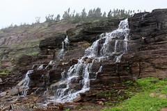 Glacial Spill (Ron Wooten) Tags: waterfall glacier waterfalls glaciernationalpark loganspass