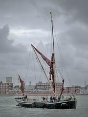 barge ing Past (ynotwooly) Tags: old sea water boats lumix sailing hampshire historic panasonic nostalgia portsmouth sail barge fz48