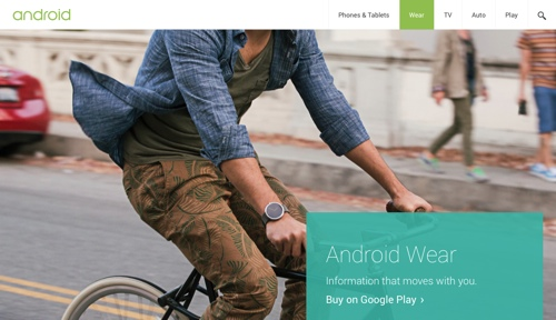 AndroidWearHomepage