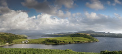 Gesto Bay Isle of Skye (stormcrowuk) Tags: red sea sky panorama black skye clouds landscape bay scotland highlands nikon angle pano wide loch isle stitched cullins hebrides d800 cullin giga carbost gesto harport autopano