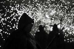 Devilry (O9k) Tags: fireworks devils folklore catalonia sparks sitges festamajor 2014 foc jupiter8 diables dimonis espurnes santbartomeu russianlens sovietlens sonyalpha7 ilce7