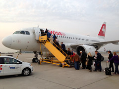 Swiss A-319 VIE - Sept 2014 - 1 (andynash) Tags: vienna airport swiss airbus vie a319 internationalairlines busboarding