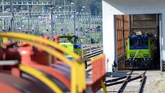 Feuerwehr BLS einsatzbereit (Thomas Neuhaus) Tags: bahnhof ag bls netz ltschberg lrz frutigen am843 lschundrettungszug interventionszentrum am8435034 hilfslok