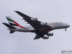Emirates --- Airbus A380 --- A6-EDH (Drinu C) Tags: plane heathrow aircraft sony emirates airbus a380 dsc lhr egll a6edh hx100v adrianciliaphotography