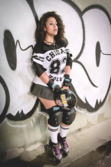 Roller Derby Girl ~ (Kitaachan) Tags: girl grafitti roller derby cachos