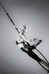 B&W Acrobat (Matthew Kowalski) Tags: sanfrancisco california blackandwhite canon circus cities bayarea acrobat cirquemechanics vmworld2014