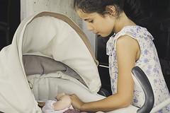 Tenderness (reinosdeazucar) Tags: baby girl stroller pastel nia beb brunette care morena carrito caricia ternura