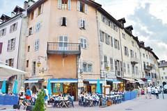 2014-08-10  Annecy -  Place Saint-François de Sales (P.K. - Paris) Tags: annecy café terrace terrasse august août 2014