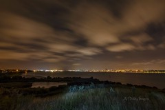 Port Sunlight River Park (alundisleyimages@gmail.com) Tags: longexposure sky plants lake lightpainting nature water night liverpool cityscape nightlights waterfront birkenhead cloudscape wirral merseyside rivermersey nikond7100 tokina1116mkll portsunlightriverpark