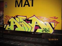 AlfaCrew (gehaktfles) Tags: train graffiti railway crew alfa boxcar 2014