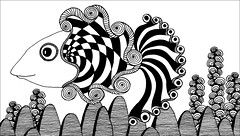 Just another fish at the bottom of the ocean (PRaile) Tags: fish drawing zentangle