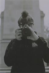 Liam 2 (Casey Mark Brown) Tags: blackandwhite bw london film 35mm skateboarding pentax kodak grain skate portsmouth vans cheesey supreme petersfield nikesb sp500