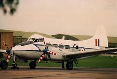 1949 de Havilland Devon C.2 VP981 - RAF BBMF - RAF Coningsby 1988 (anorakin) Tags: dove devon raf dehavilland royalairforce battleofbritainmemorialflight bbmf dehavillanddove coningsby rafconingsby dehavillanddevon gdhdv vp981
