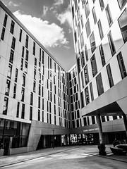enger (mahohn) Tags: windows bw reflection monochrome architecture facade deutschland fenster hamburg 34 fassade fujix10