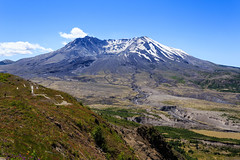 Mount St Helens - 41 (www.bazpics.com) Tags: mountain lake snow flower nature volcano washington unitedstates natural hiking centre johnson hike ridge mount trail valley mountsthelens visitor volcanic plain cougar erupt eruption devastation pumice spiritlake castlelake barryoneilphotography