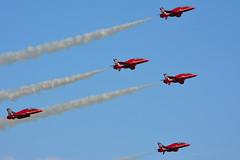 RAF Aerobatic Team (John A King) Tags: red team force air royal duxford arrows aerobatic iwm